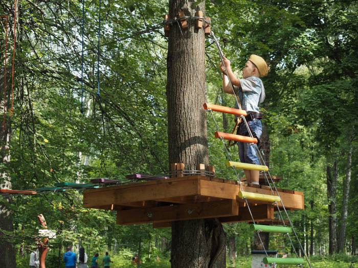 Переправы натянуты между деревьями и отличаются одна от другой оснащением. Фото Светланы Васильевой