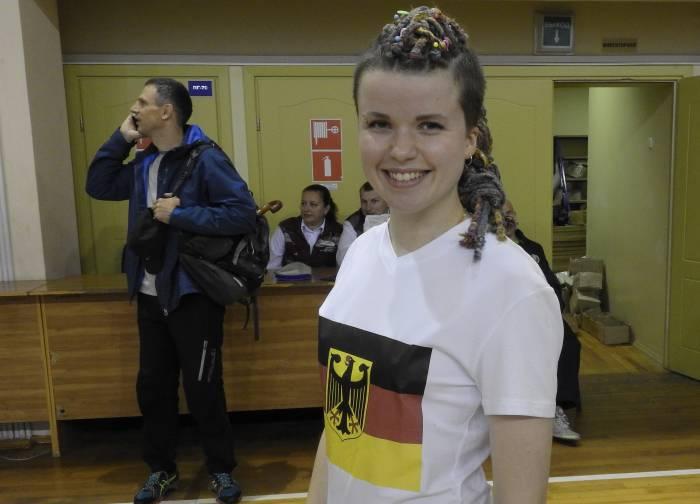 Барбара из Германии второй раз приезжает в Витебск на Олимпиаду по гиревому триатлону. Фото Светланы Васильевой