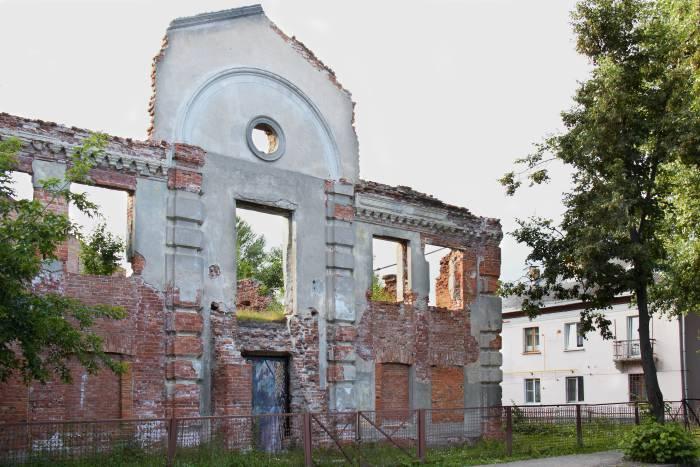 Руины большой Любавичской синагоги на улице Революционной в Витебске. Фото Светланы Васильевой