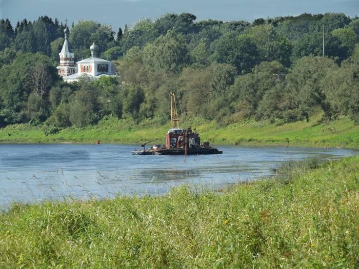 Западная Двина в районе поселка Лужесно. 1 сентября 2017. Фото Светланы Васильевой