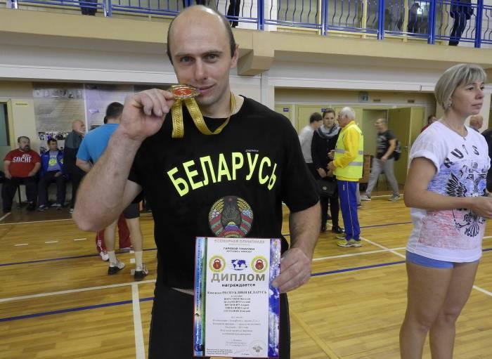 Евгений Назаревич получил золотую медаль в первый день олимпиады в составе сборной команды Беларуси. Фото Светланы Васильевой