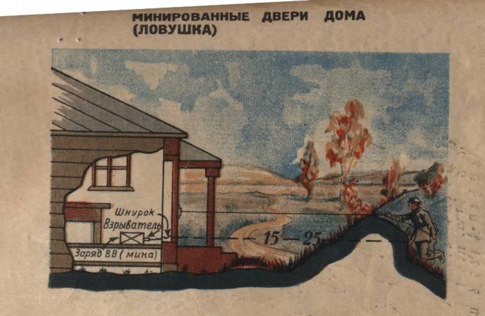 разминирование, плакат, архив, война