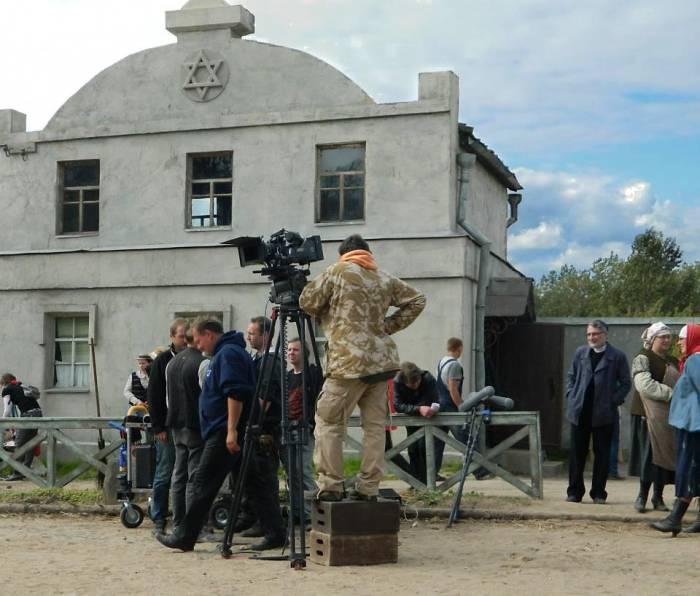 Съемочная группа на площадке фильма «Шагал- Малевич». Фото Светланы Васильевой