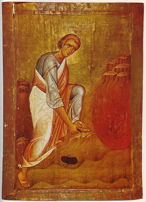 Моисей перед Неопалимой купиной (икона XII века, монастырь Святой Екатерины). Фото ru.wikipedia,org