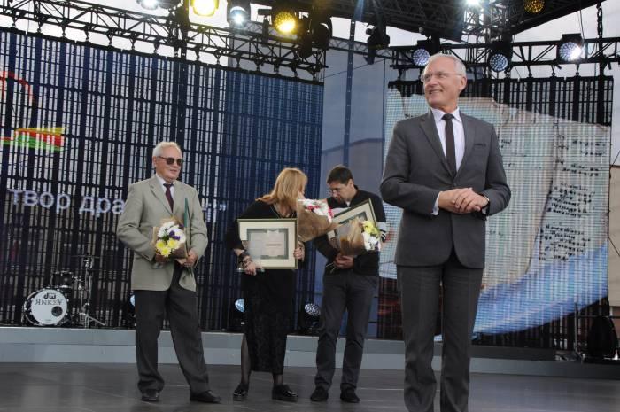 Борис Светлов на вручении литературной премии за 2016 год. Фото Анастасии Вереск