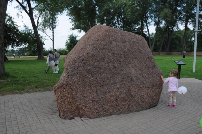 Борисов камень в Полоцке.Фото Владимира Боркова