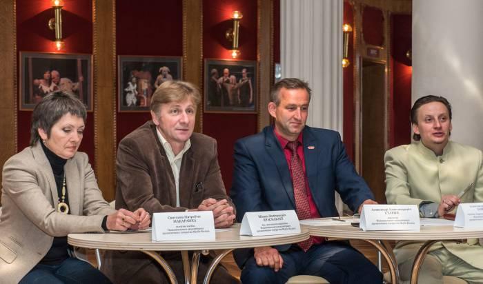 На пресс-конференции рассказали о творческих планах коллектива театра имени Якуба Коласа на новый сезон. Фото Светланы Васильевой