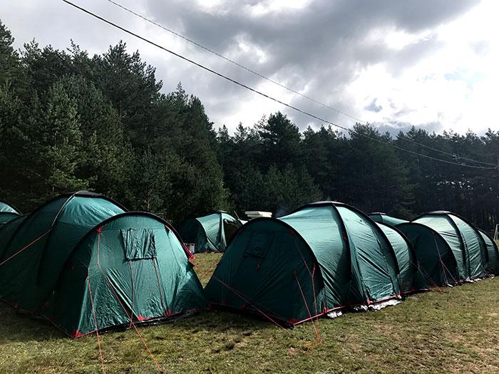 Обустройство лагеря на турслете
