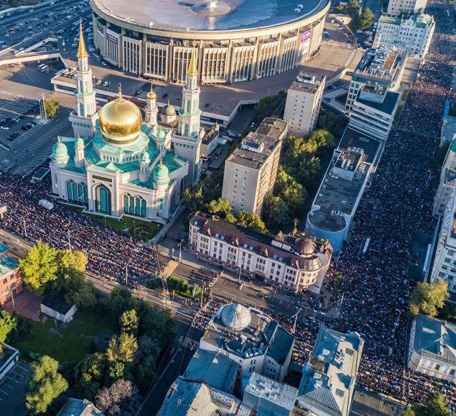 Курбан-байрам в Москве. 2017 год. Фото trinixy.ru
