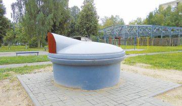 Вот так выглядят подземные контейнеры для мусора. Фото Татьяна Пастернак