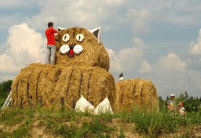 Кто, как и чьими силамисоздает креативчики из сена, которые мы наблюдаем каждую осень. «Обязаловку назвать творчеством трудно»