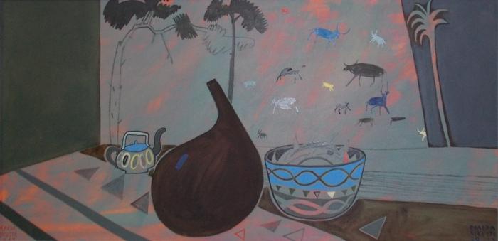 Кикусте, Мавритания, экзотика, натюрморт, Латвия, живопись, Корженевский