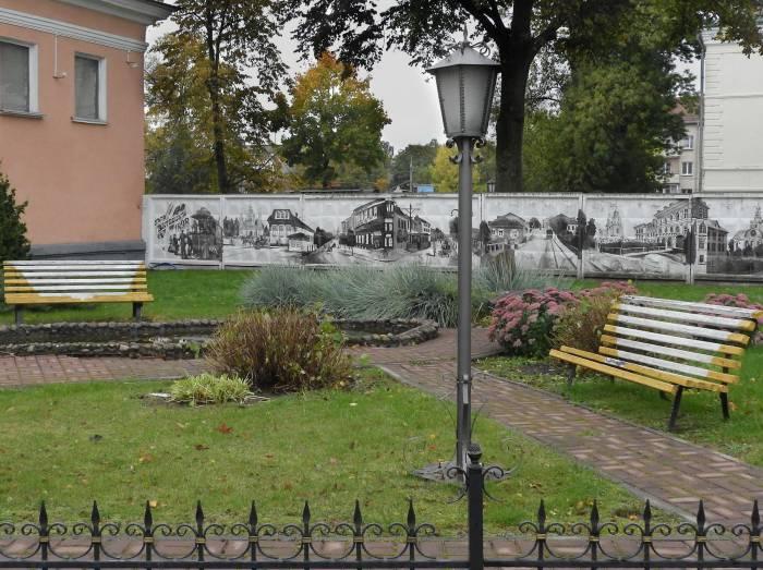 Стрит-арт о истории трамвайного движения в Витебске. Фото Светланы Васильевой