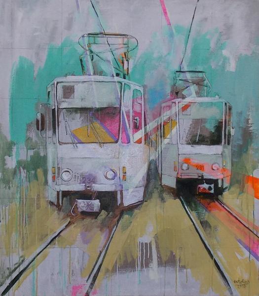 Витолиньш, живопись, трамвай, Корженевский