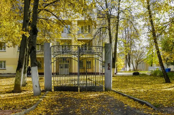 Были ворота, стала декорация. Фото Светланы Васильевой