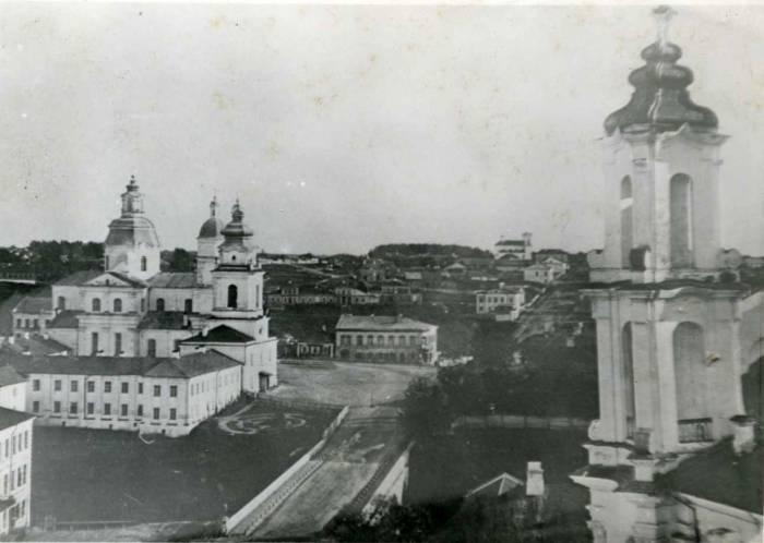 Вид на костел св. Иосифа. Фото 1860-х г.г. источник Витебская энциклопедия