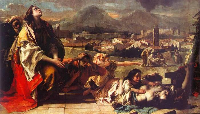 Святая Фёкла (Джованни Тьеполо, 1759 год). Источник Википедия