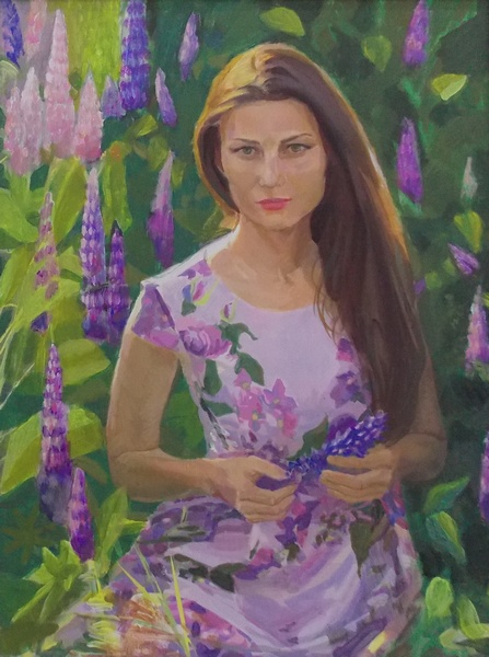 Медвецкий, хивопись, портрет, женщина, Корженевский