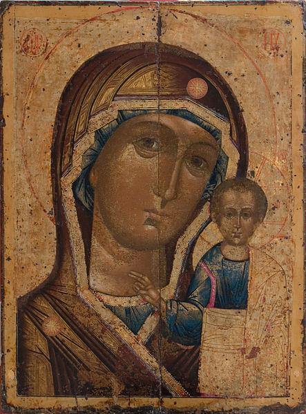 Казанская икона в Троицком соборе Саратова, XVIII в. СС0