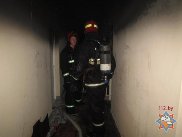 пожар общежитие