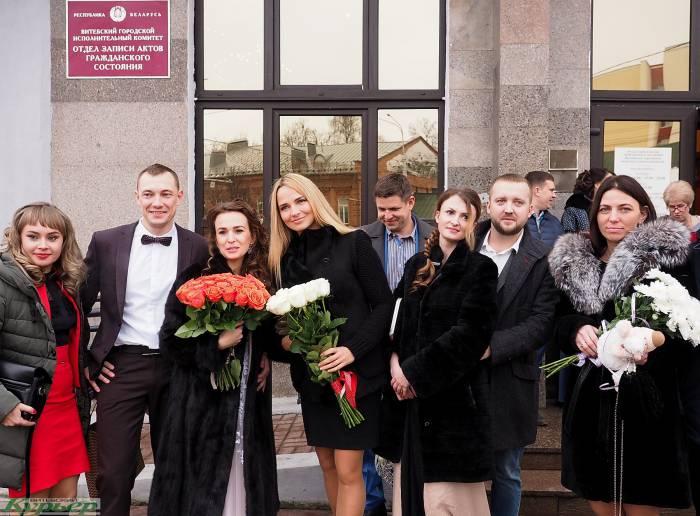 Каждый год витебский ЗАГС регистрирует около 800 браков