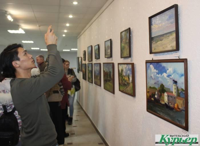 цыбульский, выставка, открытие, этюды, библиотека