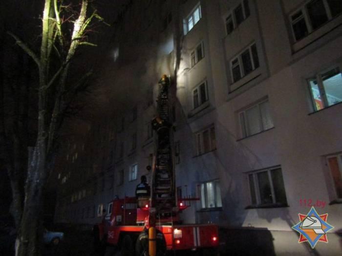 Вчера в Витебске горело общежитие на улице Ильинского