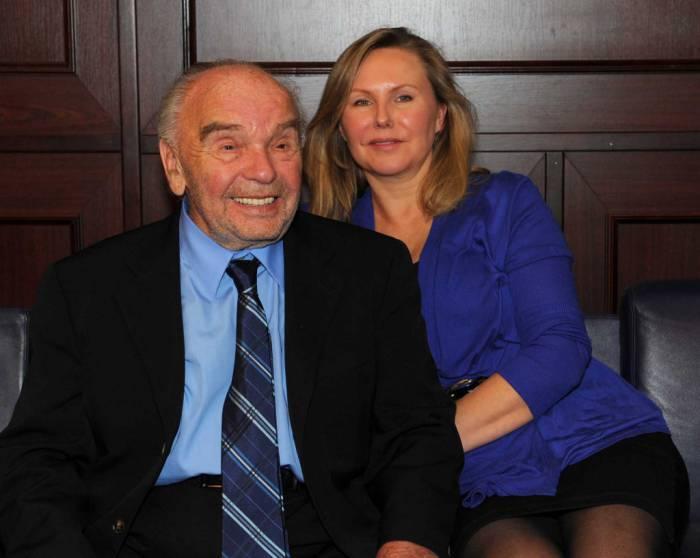Владимир Шаинский с женой Светланой.