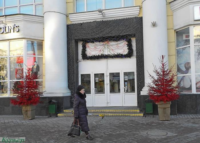 22 лучших новогодних витрин Витебска