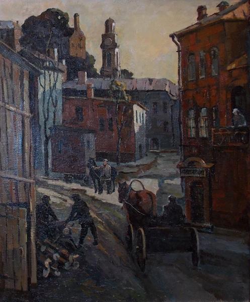 Витебск, улица, Филиппов, здворки, живопись, Корженевский