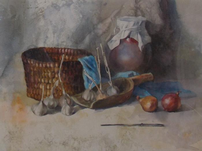 Карпан, натюрморт, акварель, Корженевский