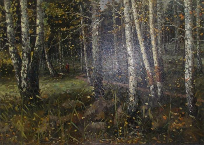 Корженевский, лес, глушь, живопись