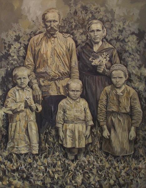 Лалыко, семья, рож, живопись, Корженевский