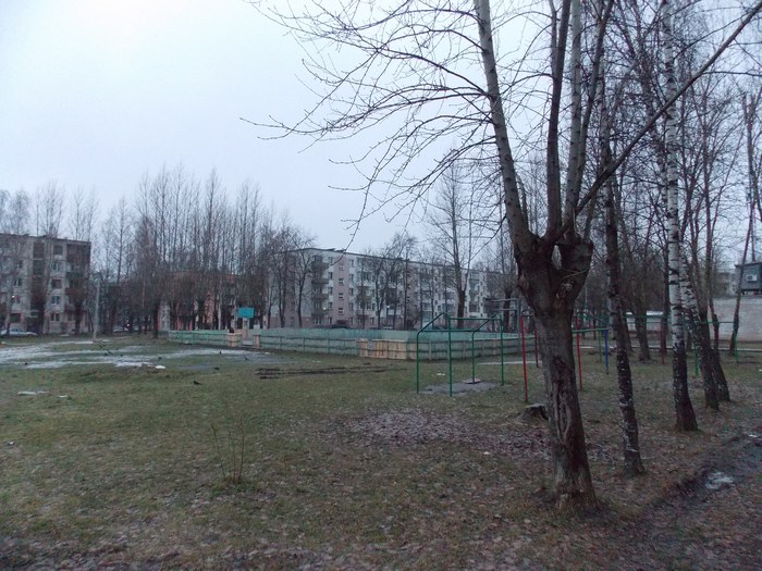 Витебск, дворик, хоккей