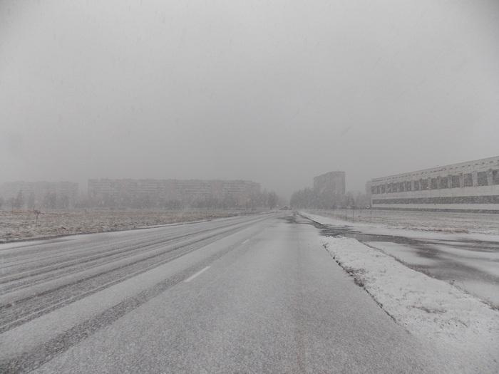 Витебск, дорога, снег