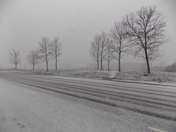 снег, пустырь, Витебск