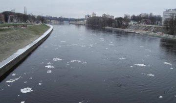 река, двина, зима