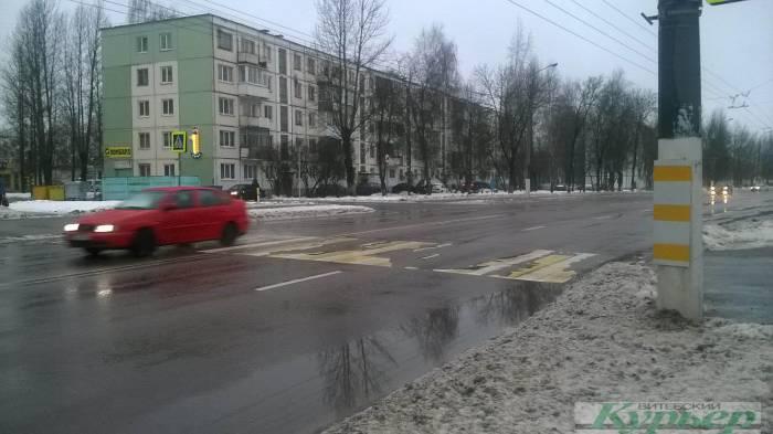 На дорогах стало спокойнее, а пешеходные переходы все обновляют