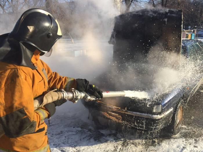 Пожар авто Новополоцк