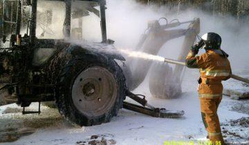 пожар трактор новополоцк