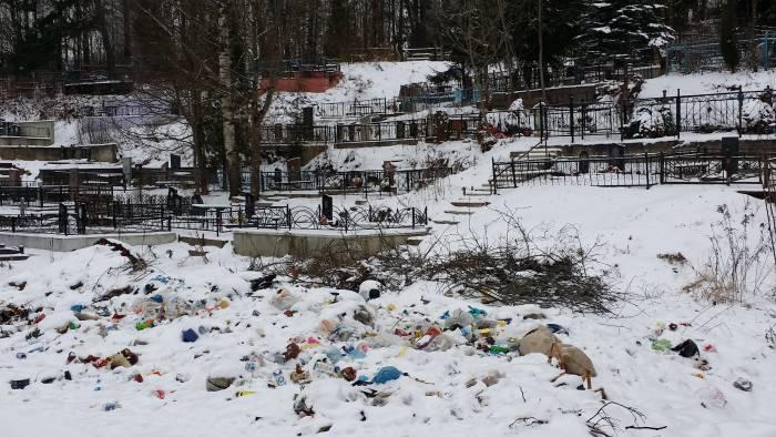 Мазурино зарастает мусором. Масштаб свалки возле кладбища впечатляет