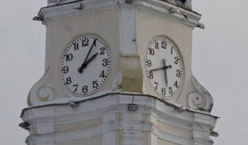 ратуша, часы, время, неправильное
