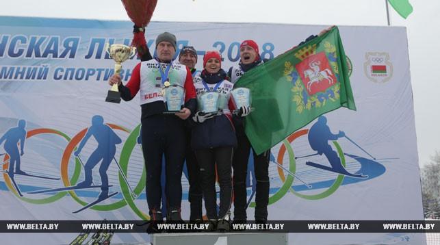 Команда Витебской области стала победителем эстафетных гонок «Минской лыжни-2018»