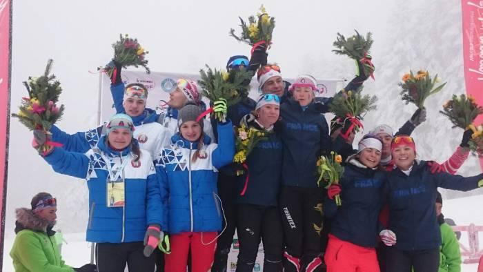 Во Франции белорусские биатлонисты заняли 2-е место в смешанной эстафете