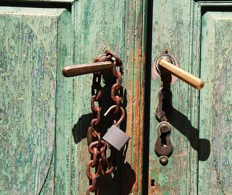 замок дверь