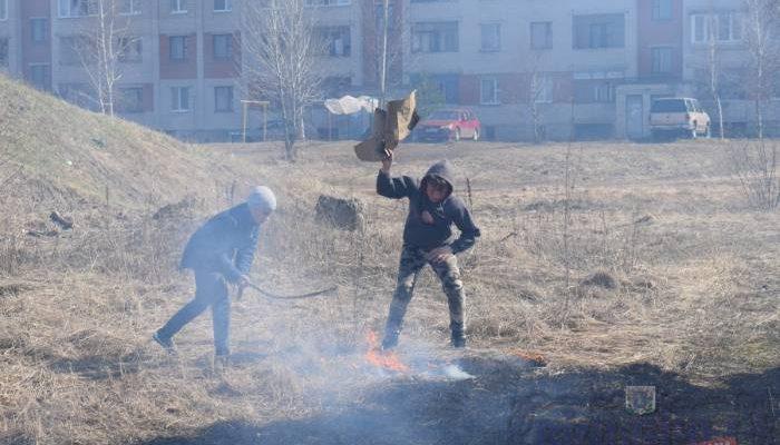 пожар трава тарный