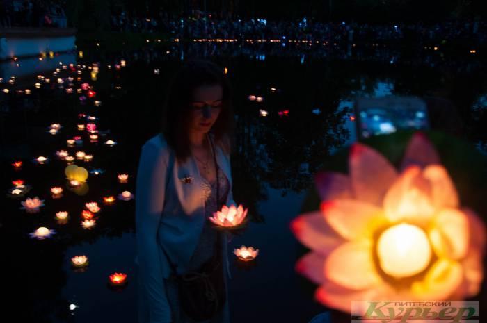 Фестиваль водных фонариков в Витебске. Как это было