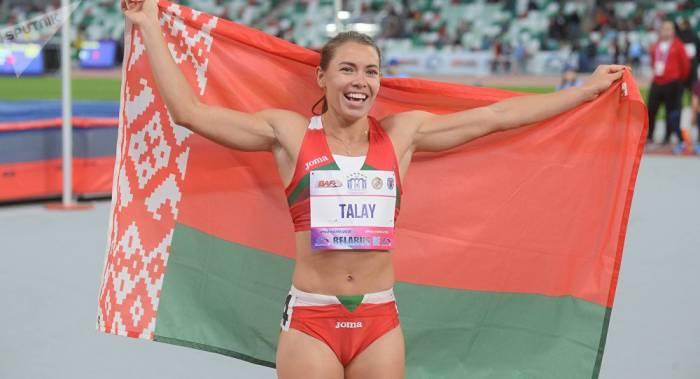 Алина Талай из Орши заняла первое место вбеге на100 метров сбарьерами наМеждународном легкоатлетическом матче