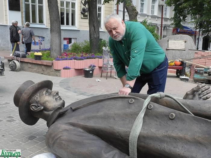 В Витебске установили памятник Федору Махнову. Как это было