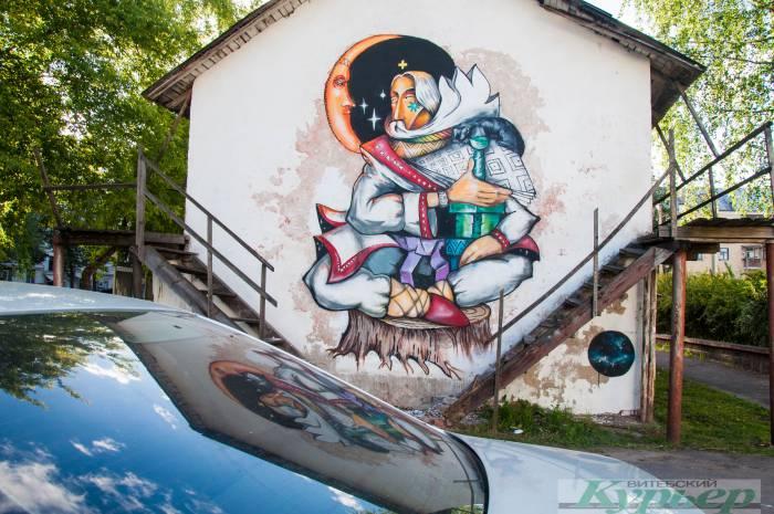 Витебск украсили новым граффити. На этот раз волат!